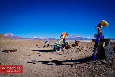 Cemetery in abandoned town near Uyuni, Bolivia