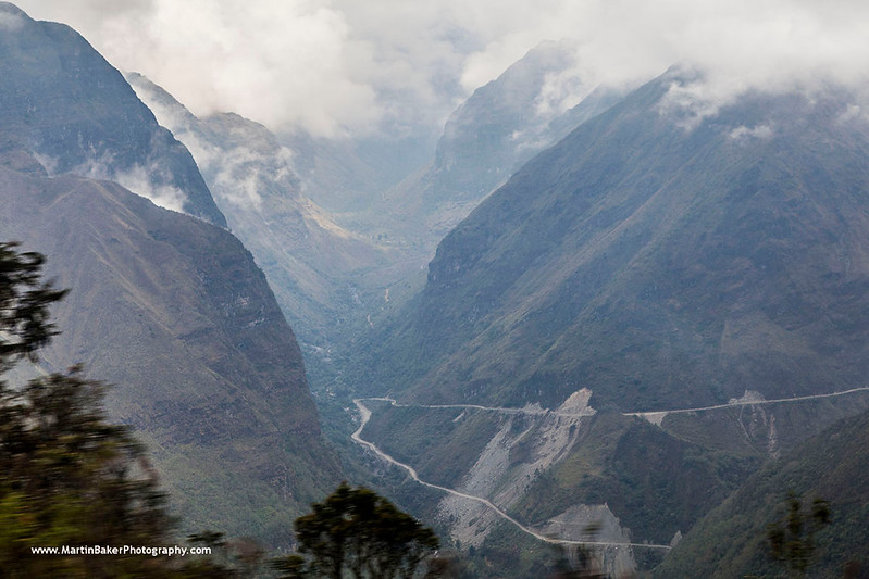 The North Yungas Road, The Andes, La Paz, Bolivia.
