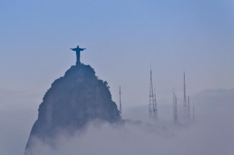 Christ the Redeemer View from Sugarloaf, Rio de Janeiro, Brazil