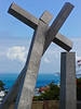 """Fallen Cross"" or ""Cruz Caida"", Salvador, Bahia, Brazil. 1999 by Mario Cravo. Commemorates 380-year old church demolished to make way for a streetcar loop in 1933 (now long gone.)  It represents a church felled by greed when the archbishop authorized its desctruction after being paid off with a grand new residence."