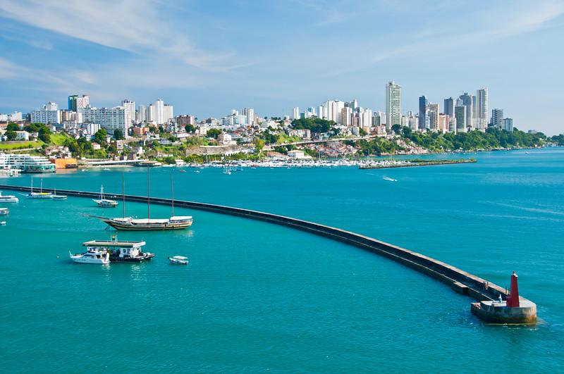 Harbor Entrance. Salvador, Bahia, Brazil