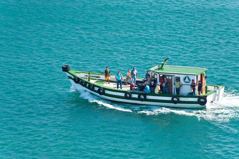 Boat coming into port. Salvador, Bahia, Brazil.