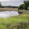 Flooded footbal pitch in rural area of Brazil (Bahia)