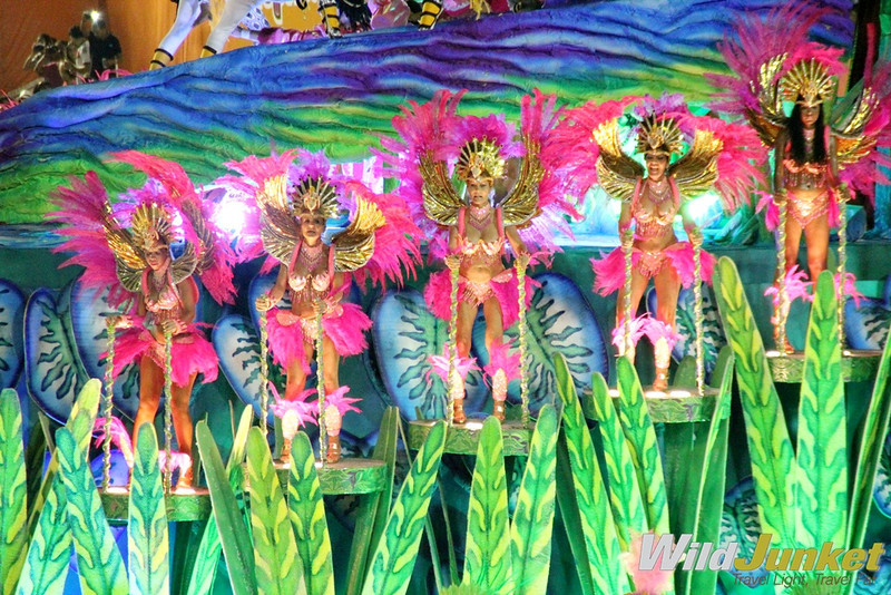 Samba dancers on a float