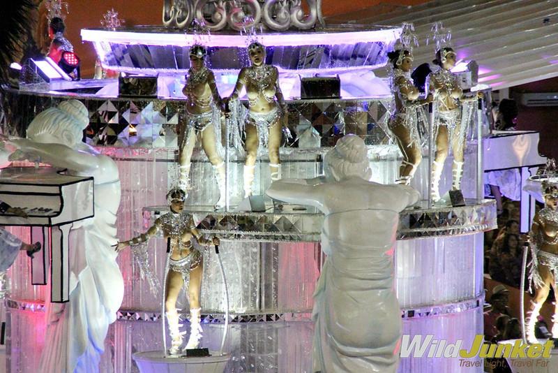 Scantily clad dancers