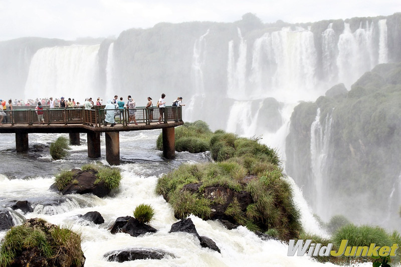 Walking towards the Iguassu Falls