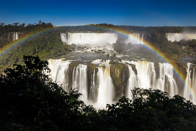 The sumptuous Iguazu Falls seen from the Brazilian side.