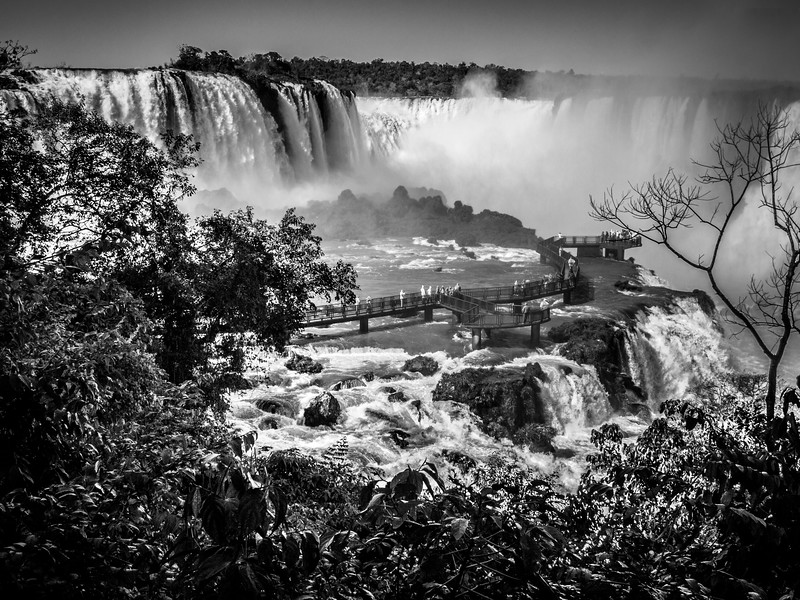 The sumptuous Iguazu Falls seen from the Brazilian side close to the spectacular vista of Luna Llena.