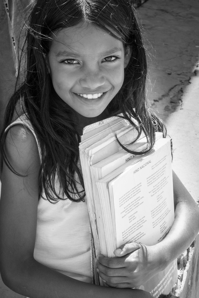Touching portrait of a lovely little girl met in a village called Mandacarú  around the Lencois Maranhenses National Park.
