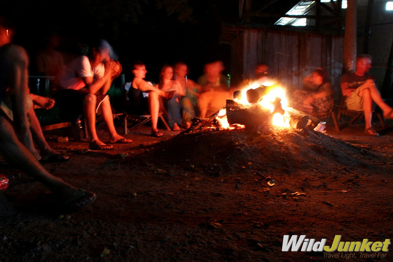 Campfire in the Pantanal
