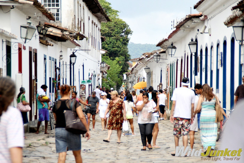 The cobblestoned streets of Paraty