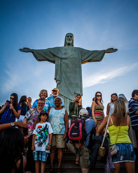 "Worldwide famous 38-metre statue of ""Christ the Redeemer""."