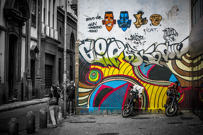 Street life scene.
