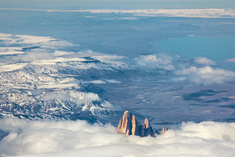 aerial view of Torres del Paine