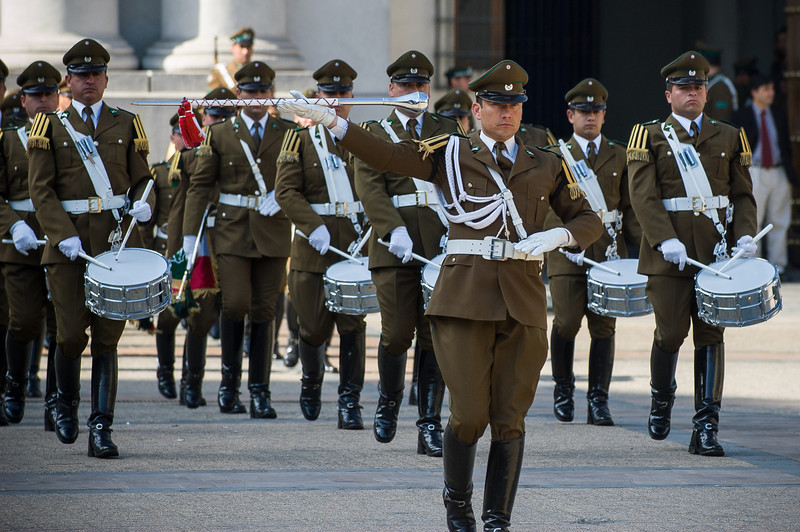 Changing of the Guard - La Moneda - Santiago, Chile