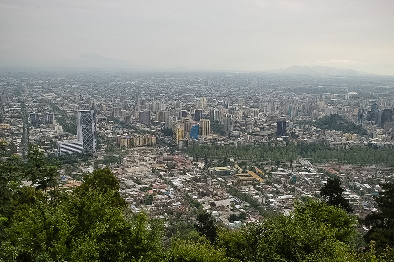 Santiago from Cero San Cristobal