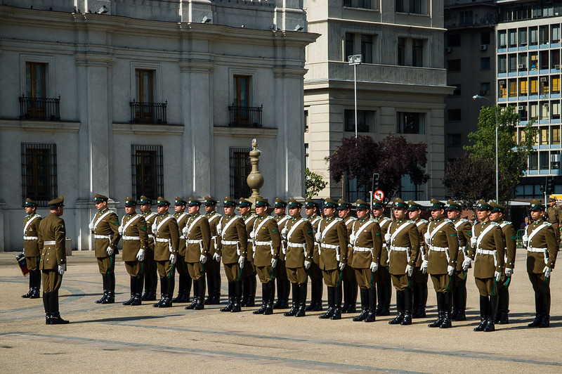 Changing of the Guard - La Moneda - Santiago