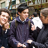 Students on Paseo Ahumada - Santiago