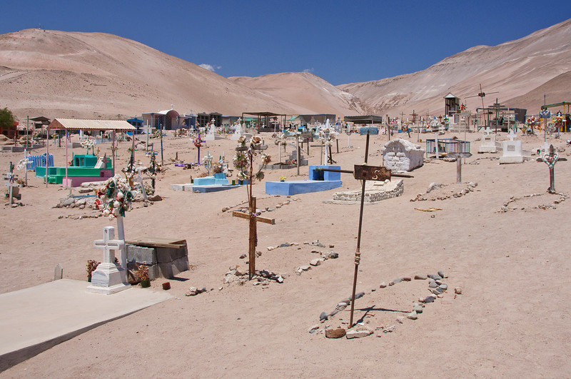 Cemetery in Ponchochille, Chile