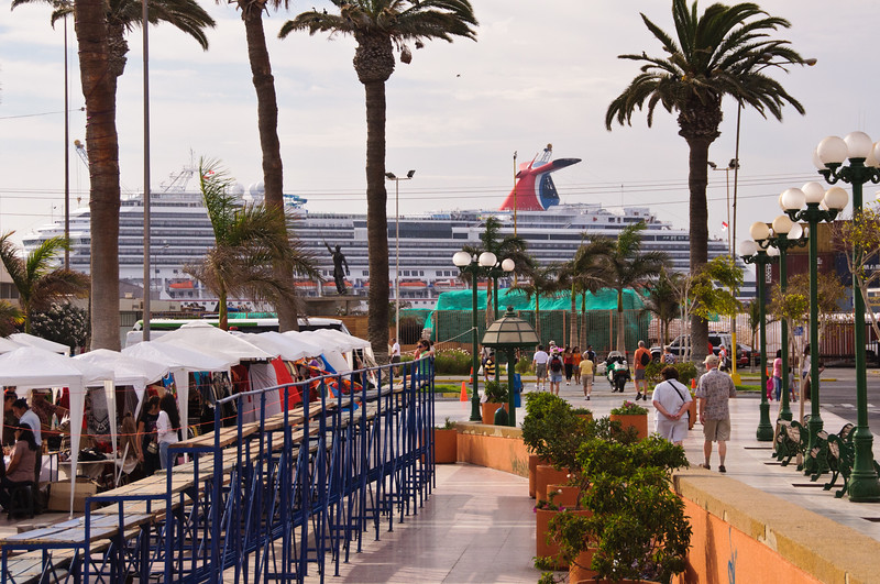 Carnival Splendor in Arica, Chile