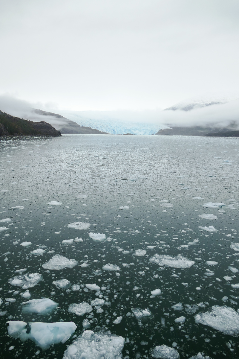El Brujo glacier in the Chilean Fjords is part of the travel itinerary on a Seabourn Quest cruise in South America.