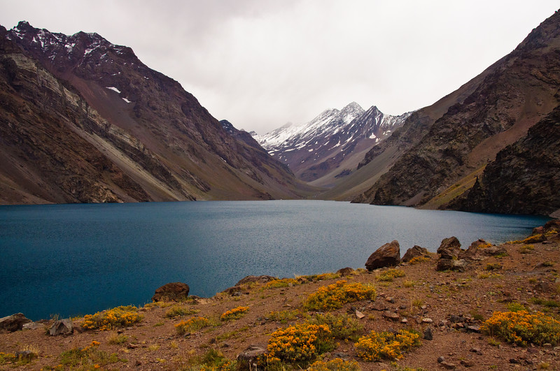 Alpine Lake in Chilean Andes