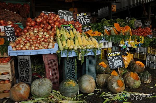 Piles of Vegetables at La Vega Market - Santiago, Chile