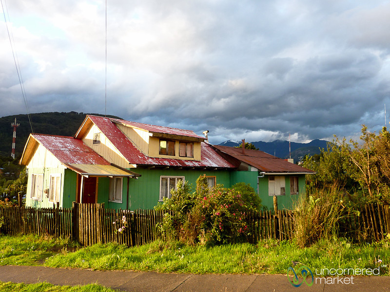 Colorful House in Puerto Chacabuco, Chile