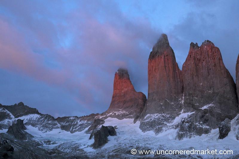 Pink Sunrise - Torres del Paine National Park, Chile