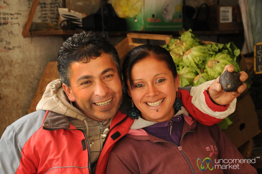 Joking Around at Mercado Cardonal - Valparaiso, Chile
