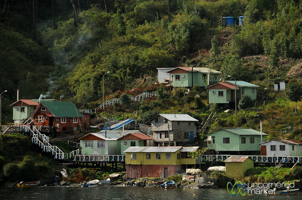 Little Houses on the Island - Aisen Fjord, Chile