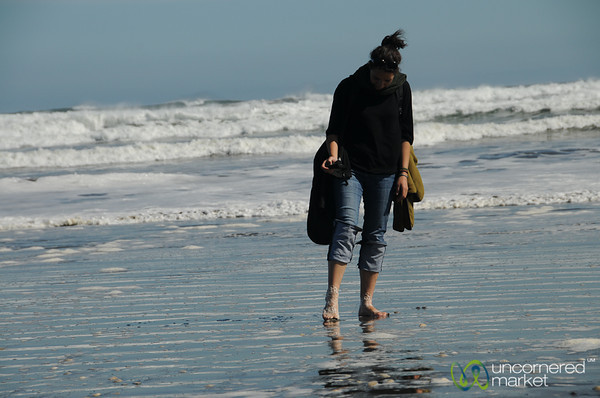 A Walk Along the Beach - Chiloe Island, Chile