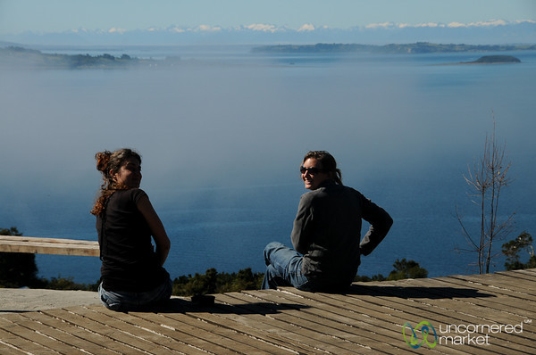 Looking Out Over the Sea and Mountains - Achao, Chiloe (Chile)