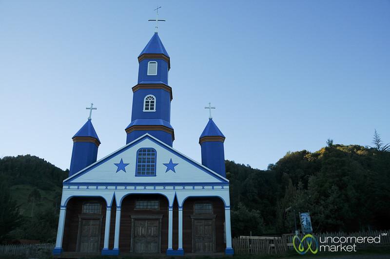 Colorful Little Church in Tenaún - Chiloe Island, Chile