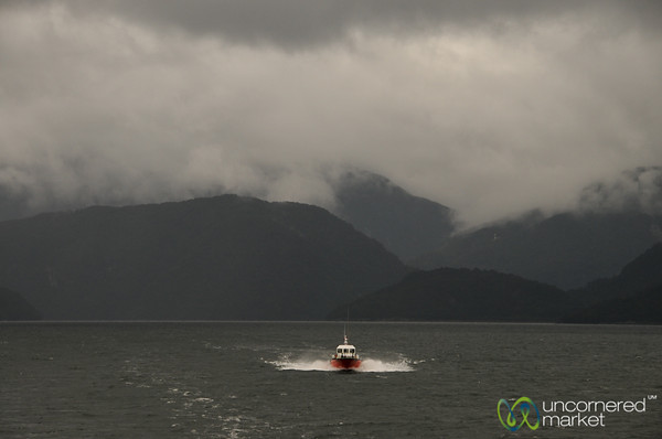 Leaving Puerto Chacabuco - Chile