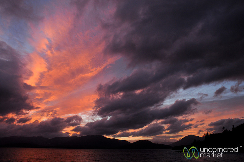 Sunset Over Aisen Fjord - Chile