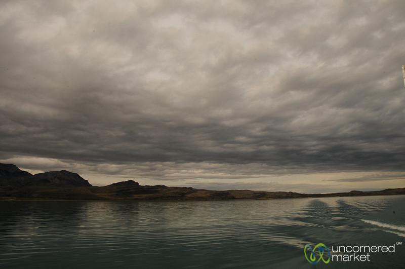 Crossing Lake General Carrera - Chile Chico, Chile