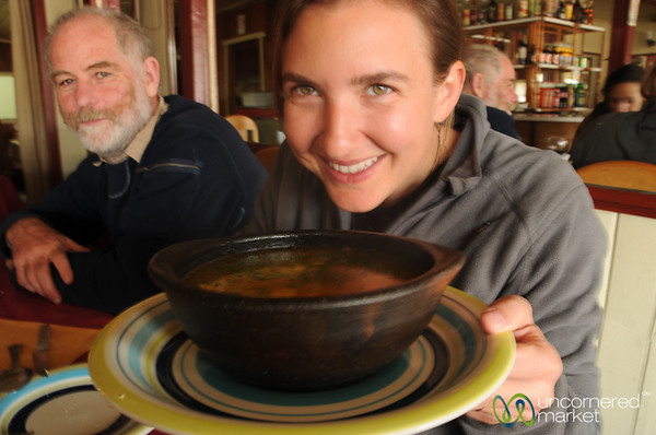 Tasty Bowl of Tomato Soup in Quellon, Chiloe - Chile