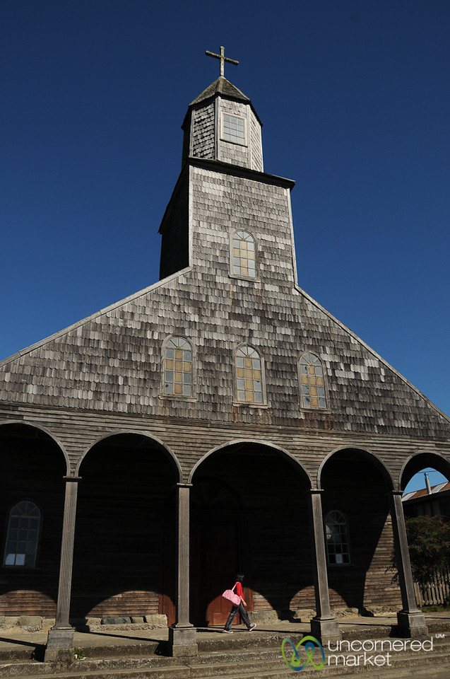 Traditional Wooden Church of Achao, Chiloe (Chile)