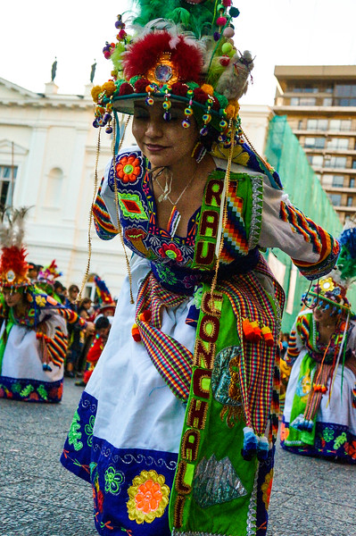 Dancing at Fiesta de la Chakana in Santiago de Chile.