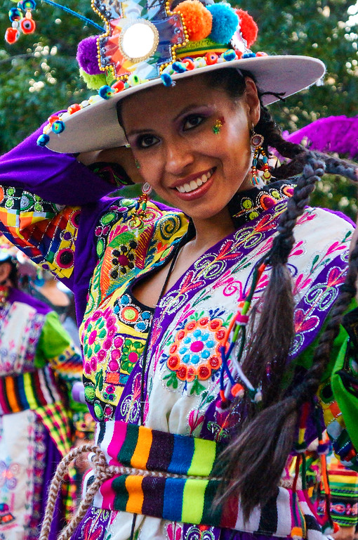 Woman at the Fiesta de la Chakana in Santiago de Chile.