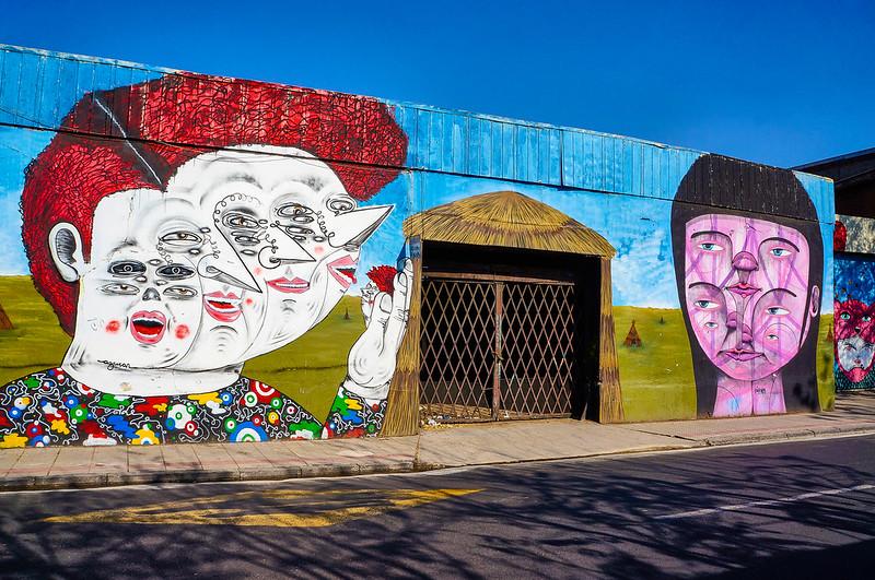 Street Art in Santiago: Azucar & Piguan
