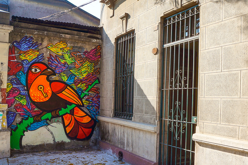 Mural by Brigada Negotropica & Charquipunk in Santiago, Chile