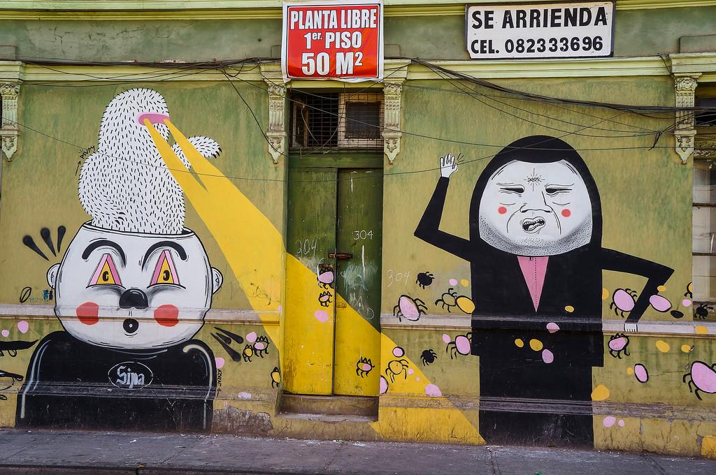 Mural by Sipa in Santiago, Chile