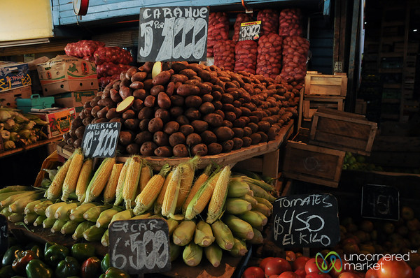 Veggies All Piled Up at La Vega Market - Santiago, Chile