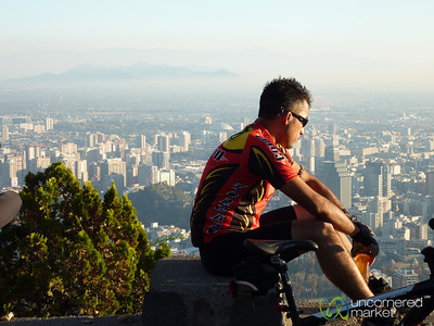 Taking a Break to Admire the View of Santiago