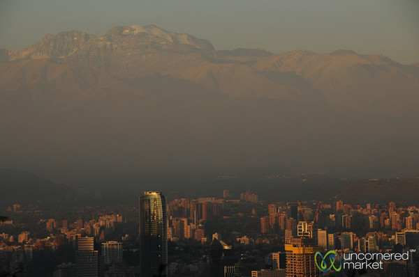 City of Santiago from Above - Chile