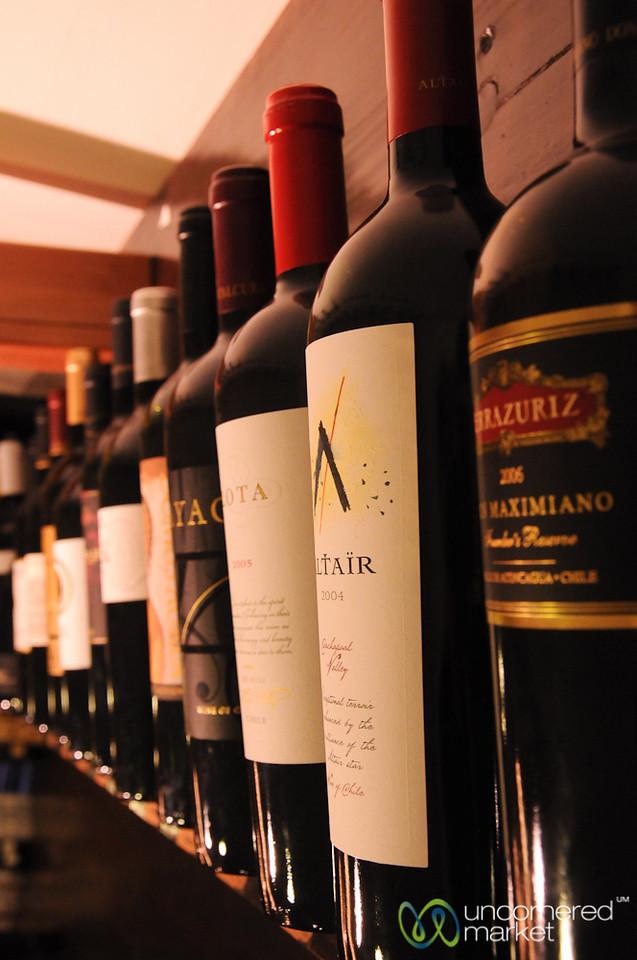 Chilean Wine at Wain Shop - Santiago