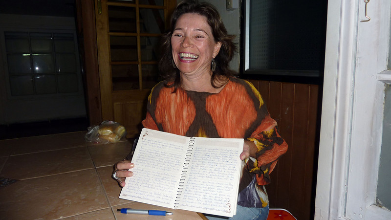 Rosa, from Brazil, lost her diary