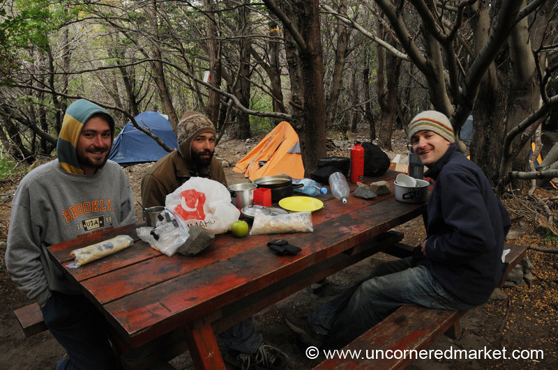 Camping Comraderie at Los Cuernos - Torres del Paine National Park, Chile